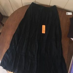 New With Tags black one size Sakkas maxi skirt